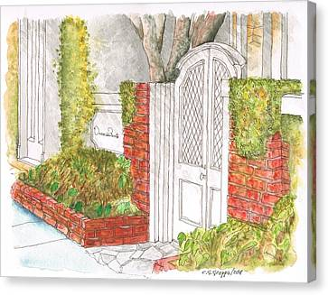 Oscar De La Renta Office Entrance In Melrose Place - West Hollywood - California Canvas Print