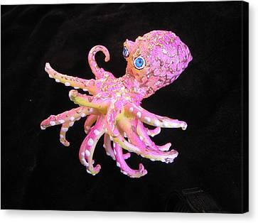 Oscar The Octopus Canvas Print by Dan Townsend