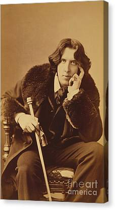 Oscar Wilde 1882 Canvas Print by Napoleon Sarony