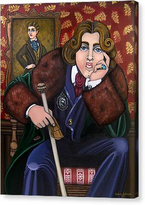 Oscar Wilde And The Picture Of Dorian Gray Canvas Print by Victoria De Almeida