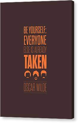 Oscar Wilde Quote Typographic Art Print Poster Canvas Print by Lab No 4 - The Quotography Department