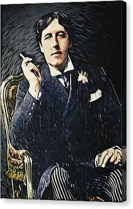 Criticism Canvas Print - Oscar Wilde by Taylan Apukovska