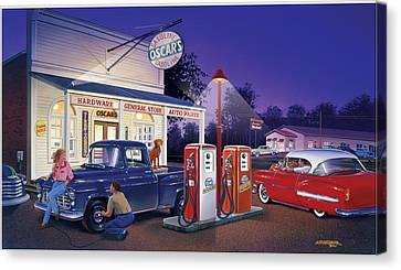 Oscar's General Store Canvas Print by Bruce Kaiser