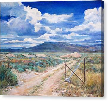 Osceola Nevada Ghost Town Canvas Print by Donna Tucker
