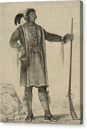 Osceola, Seminole Chief Of Florida Canvas Print by Everett