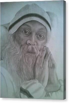 Osho Canvas Print by Milind Badve