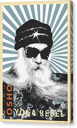 Osho Yoga Rebel Canvas Print by Chris Brown