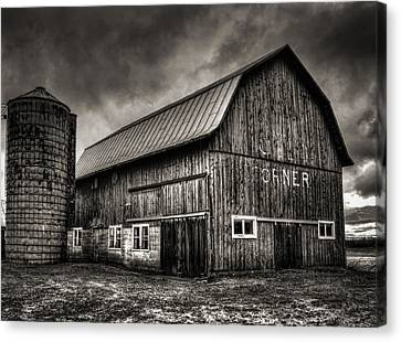 Oslo Corner In Black And White Canvas Print by Thomas Young