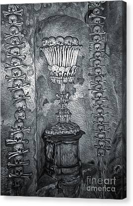 Ossuary Sedlec - Chalace Canvas Print by Gregory Dyer