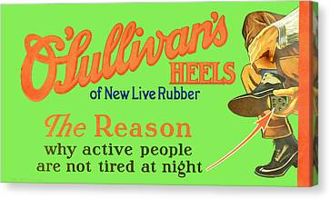 O'sullivan's Heels Of New Live Rubber Canvas Print by Woodson Savage