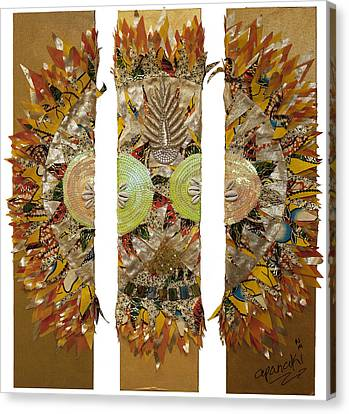 Canvas Print featuring the tapestry - textile Osun Sun by Apanaki Temitayo M