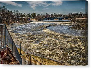 Oswegatchie River Flooding Canvas Print
