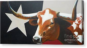 Cattle Drives Canvas Print - O'texas by David Ackerson