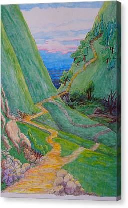 Canvas Print featuring the painting Other Paths by Matt Konar