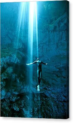 Apnea Canvas Print - Otherworlds by One ocean One breath