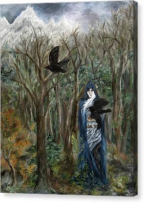 The Raven God Canvas Print