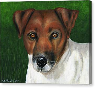 Otis Jack Russell Terrier Canvas Print by Michelle Wrighton