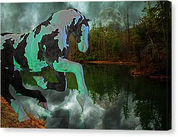 Ghostly Canvas Print - Otter Lake Phantom by Betsy Knapp