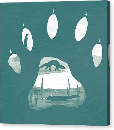 Playful Canvas Print - Otter Paw by Daniel Hapi