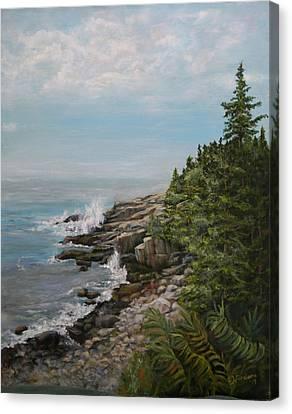 Otter Point - New England Canvas Print by Sandra Nardone