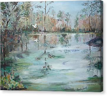 Otter Springs Canvas Print by Dorothy Herron