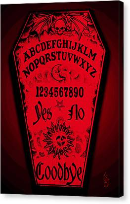 Ouija Coffin Canvas Print by Steve Hartwell