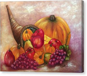 Our Abundance Canvas Print by Annamarie Sidella-Felts