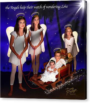 Our Christmas Angels Canvas Print by Doug Kreuger