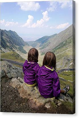 Our Daughters Admiring The View Canvas Print