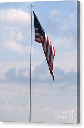 Our Flag Canvas Print by Joseph Baril