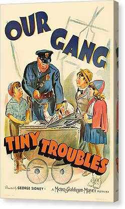 Our Gang Vintage Movie Poster 1930s Canvas Print by Mountain Dreams
