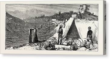 Our Indian Contingent At Malta Camp Of Indian Artillery Canvas Print by Indian School