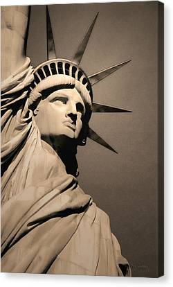 Our Lady Liberty Canvas Print by Dyle   Warren