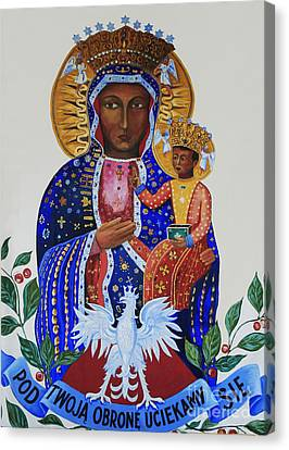 Our Lady Of Czestochowa Canvas Print by Barbara McMahon