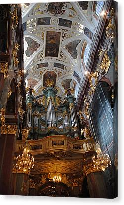 Our Lady Of Czestohowa Basilica Interior Canvas Print by Jacqueline M Lewis