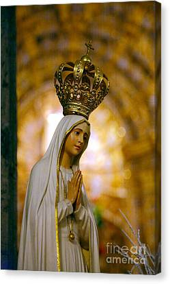 Christian Canvas Print - Our Lady Of Fatima by Gaspar Avila