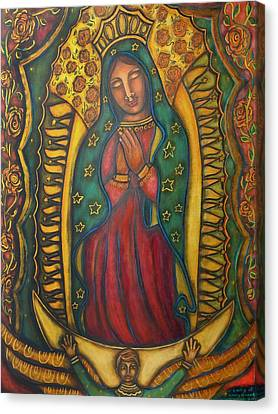 Our Lady Of Guadalupe Canvas Print - Our Lady Of Glistening Grace by Marie Howell Gallery
