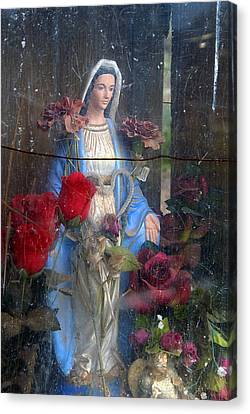Our Lady Of Grace San Ysidro Cemetery Corrales New Mexico 2010 Canvas Print by John Hanou
