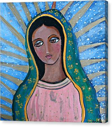 Our Lady Of Guadalupe Folk Art Canvas Print