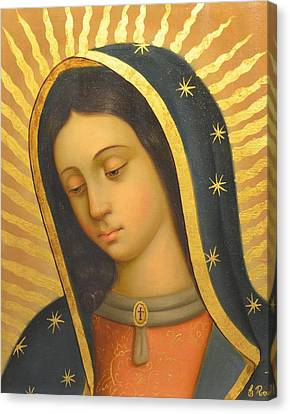 Our Lady Of Guadalupe Canvas Print - Our Lady Of Guadalupe by Jose antonio Robles