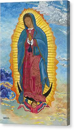 Our Lady Of Guadalupe Canvas Print - Our Lady Of Guadalupe-new Dawn by Mark Robbins