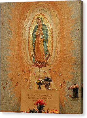 Our Lady Of Guadalupe Canvas Print by Philip Ralley