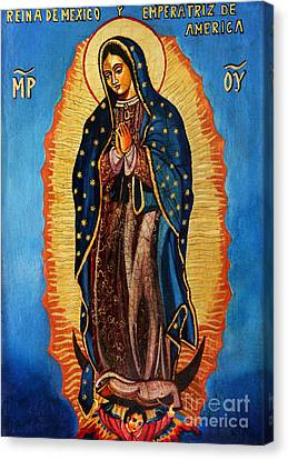Our Lady Of Guadalupe  Canvas Print by Ryszard Sleczka