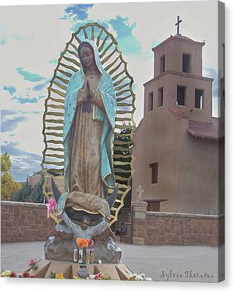 Canvas Print featuring the photograph Our Lady Of Guadalupe by Sylvia Thornton