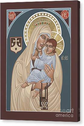 Canvas Print featuring the painting Our Lady Of Mt. Carmel 255 by William Hart McNichols