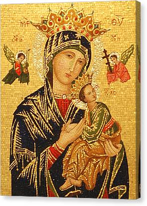 Madonna Canvas Print - Our Lady Of Perpetual Help  by Philip Ralley