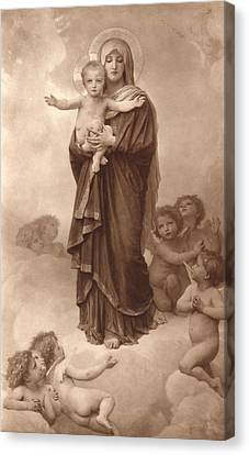 Our Lady Of The Angels Canvas Print by William Bouguereau