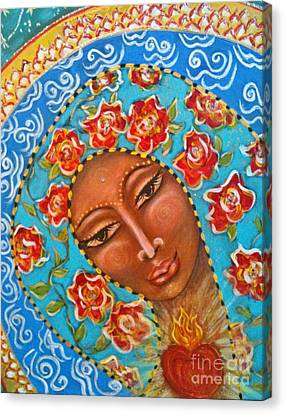 Our Lady Of The Roses Canvas Print by Maya Telford