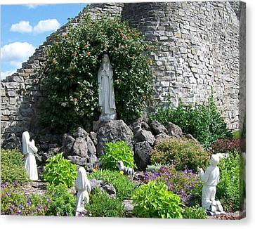 Our Lady Of The Woods Shrine Lll Canvas Print by Michelle Calkins