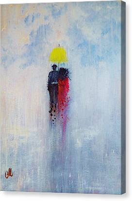 Our Love And A Summer Rain Canvas Print by Cristina Mihailescu